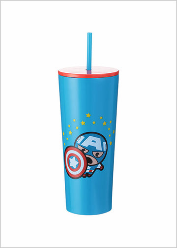 MINISO MARVEL- TUMBLER (CAPTAIN AMERICA) 2007143611108 STEEL CUP