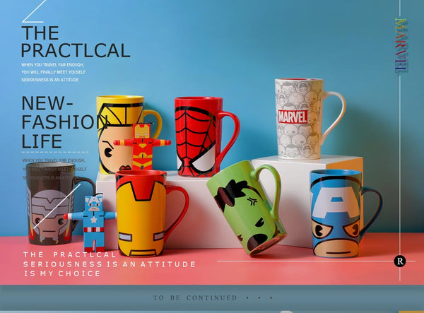 Miniso MARVEL Ceramic Mug,Captain Marvel 2007235411104