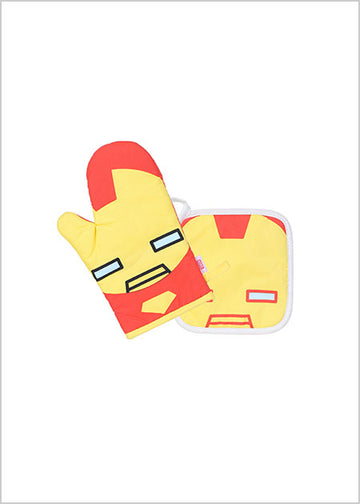 Miniso MARVEL-Cooking Mittens + Potholder,Iron 2007236813105