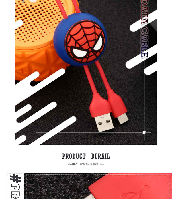 Pc Surface N//C Elfen Lied Anime Round Three-in-One Charging Cable TPE Cable Aluminum Alloy Shell