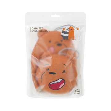 MINISO WE BARE BEARS BATH SET(GRIZZ) 2007667911104 SHOWER SPONGE