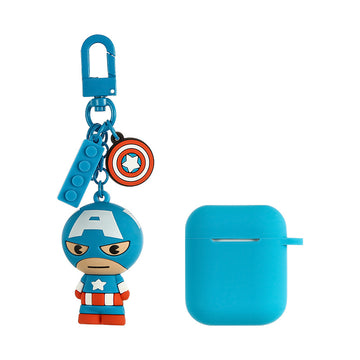 MINISO MARVEL COLLECTION AIRPODS CASE (CAPTAIN AMERICA) 2008086311100 AIRPOD CASE
