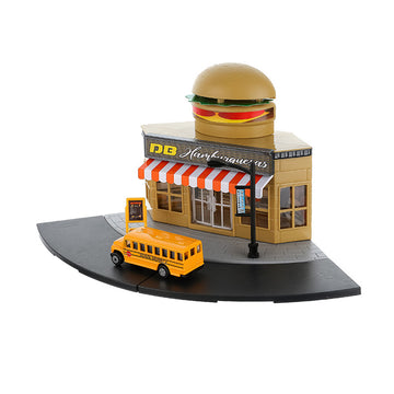 MINISO TOY CAR SET (BURGER SHOP) 2009873613100 SPORT TOYS