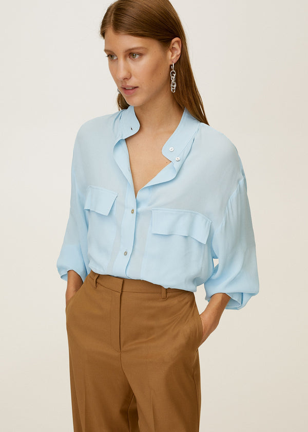 Mango Pockets Flowy Shirt 77027640-52