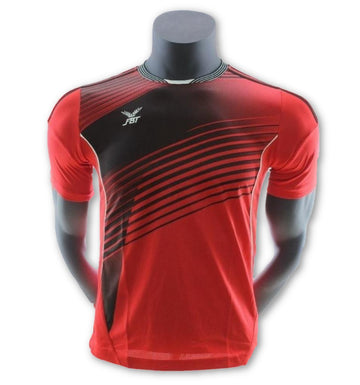 Fbt Red Jersey Short Sleeve Football Uniform