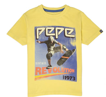 Pepe Jeans Cole Ss Ip PB502935 MISTED YELL T-Shirt Short Sleeve Young Boys