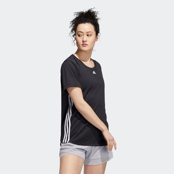 ADIDAS 3 STRIPE TEE FT3073 TOP SHORT SLEEVE TRAINING (W)