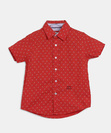 Pepe Jeans Marlon Ss Ip PB302010 RED Shirt Short Sleeve Young Boys