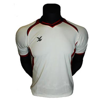 Fbt White Jersey Short Sleeve Football Uniform