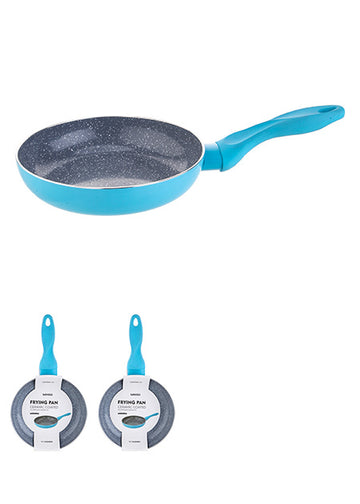MINISO CERAMIC COATED FRYING PAN- 28CM - BLUE 0100034741 COOKWARE