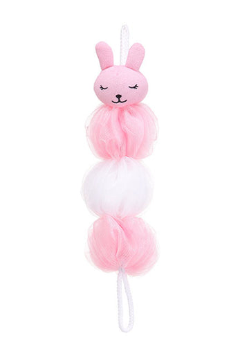MINISO PINK RABBIT ELONGATED BATH SPONGE 0200041031 SHOWER SPONGE