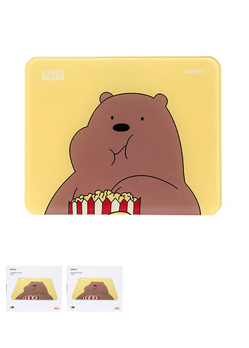 MINISO WE BARE BEARS - TEMPERED GLASS SCALE (GRIZZLY) (BROWN) 0300015201 ELECTRIC SCALE