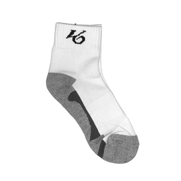 K6 White / Grey Socks Ankle Running (u)
