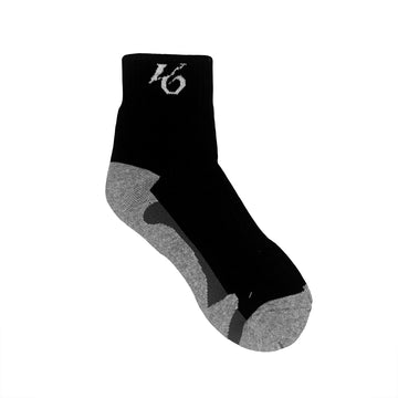 K6 Black / Grey Socks Ankle Running (u)