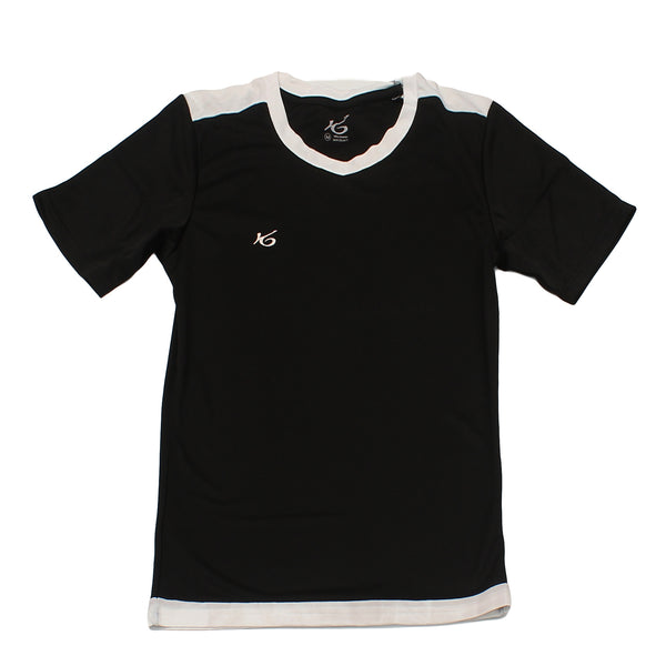 K6 ASN147 / Black Jersey Short Sleeve Football (m)