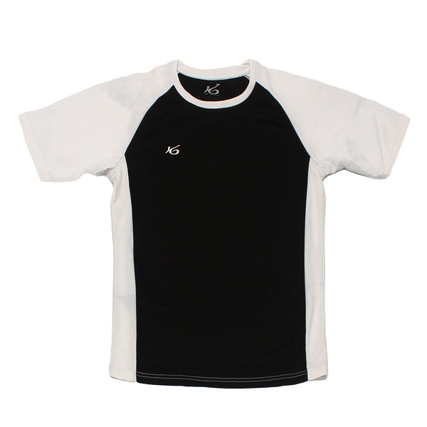K6 ASN159 / Black Jersey Short Sleeve Football (m)