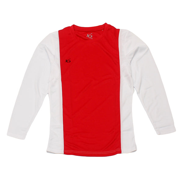 K6 ASN163 / Red Jersey Long Sleeve Football (m)