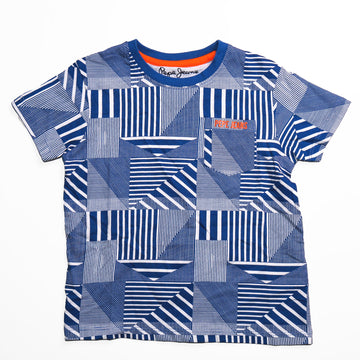 Pepe Jeans Benjamin Ss Ip PB502930 ELECTRIC BL T-Shirt Short Sleeve Young Boys