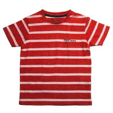 Pepe Jeans Owen Ss Ip PB502973 RED T-Shirt Short Sleeve Young Boys