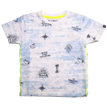 Pepe Jeans Robert Ss Ip PB502976 WHITE T-Shirt Short Sleeve Young Boys