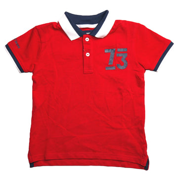 Pepe Jeans Walt Ss Ip PB540666 RED Polo T-Shirt Young Boys