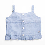 Pepe Jeans Tara Ip PG301430B29 LT WASH Shirt Short Sleeve Young Girls