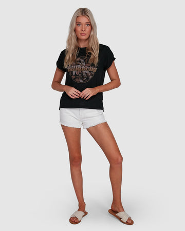 BILLABONG FORMULA 6503004-BLK T-SHIRT SHORT SLEEVE (W)