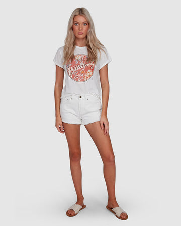 BILLABONG FORMULA 6503005-WHT T-SHIRT SHORT SLEEVE (W)
