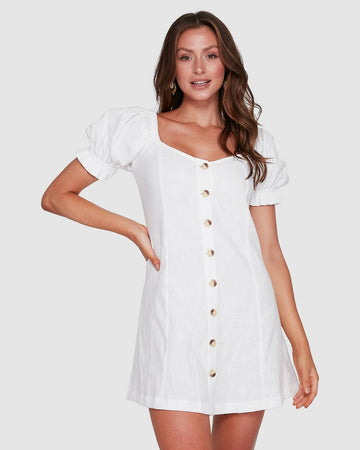 BILLABONG CHLOE DRESS 6503473-WHT DRESS KNEE LENGHT(W)