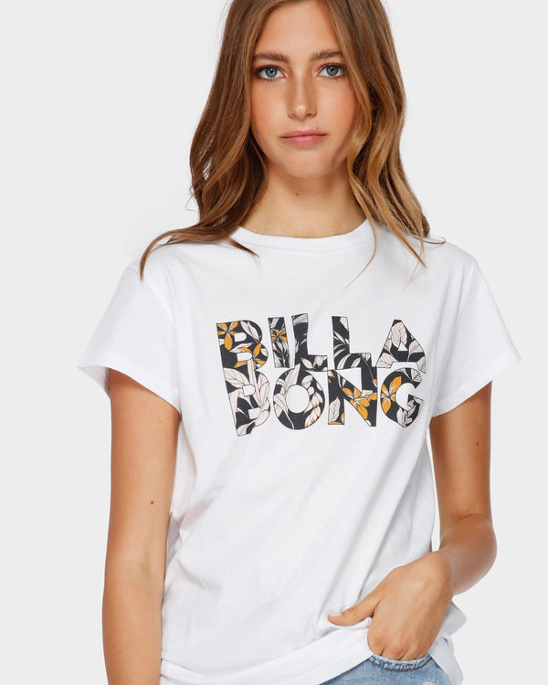 Billabong Wahi 6591001S-WHI T-Shirt Short Sleeve (W)