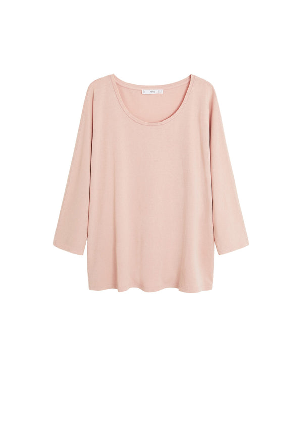 Mango Women T-Shirt Long Sleeve Revo Camiseta Circular 67030576-81