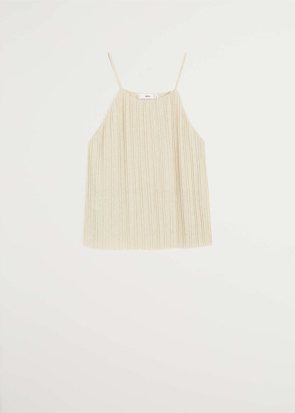 Mango Pleated strap top 67047896-07