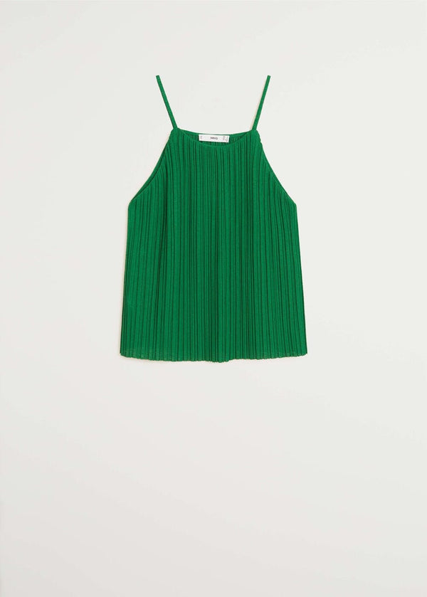 Mango Pleated strap top 67047896-43