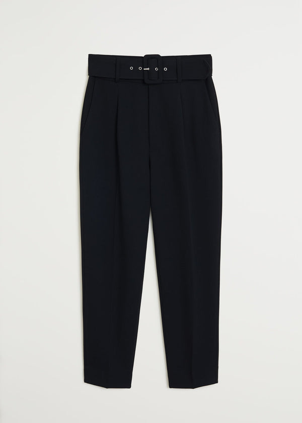 Mango Belt straight-fit trousers 67054411-99