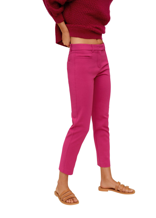 Mango Cotton crop trousers 67072884-88