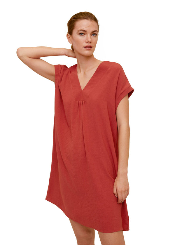 Mango Women Dress Knee Length Balmes-H Vestido Corto Plana 67074405-76