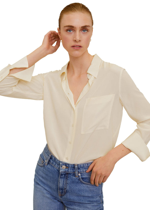 Mango Women Shirt Long Sleeve Tivoli Camisa Plana 67080574-2