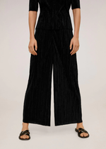 Mango Pleated culotte trousers 67085948-99