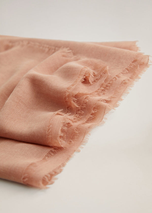 Mango Frayed edge scarf 67094759-25