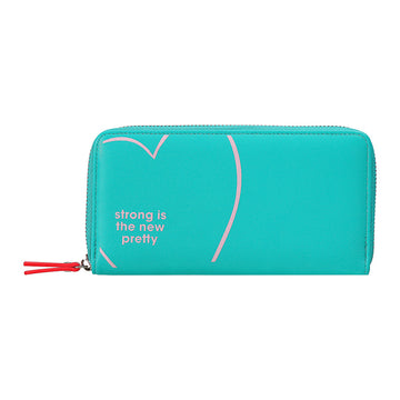 MINISO LONG PURSE(GREEN) 2008170210104 WOMEN'S WALLET