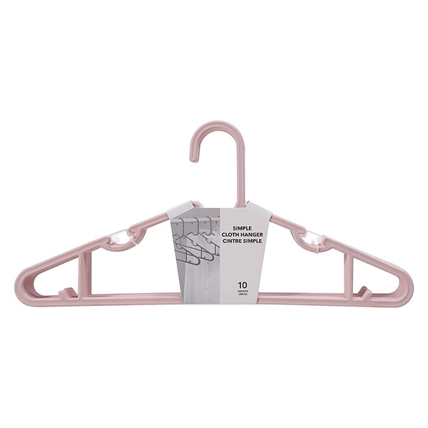 Miniso Simple Cloth Hanger 10 Counts (Pink) 2008111410105