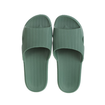 MINISO MEN'S COMFORT BATHROOM SLIPPERS (ARMY GREEN,43-44) 2009721313107 BATHROOM SLIPPERS