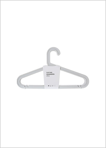 Miniso Clothes Hanger 5 Pack (Grey) 2006858410105