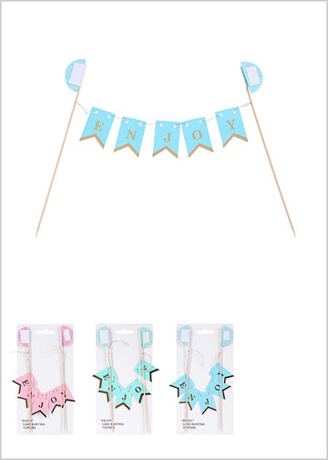 Miniso ENJOY Cake Bunting Toppers 2006871010108