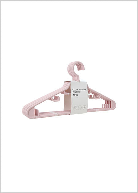 Miniso Cloth Hanger 5 Pack - Pink 2007488910102