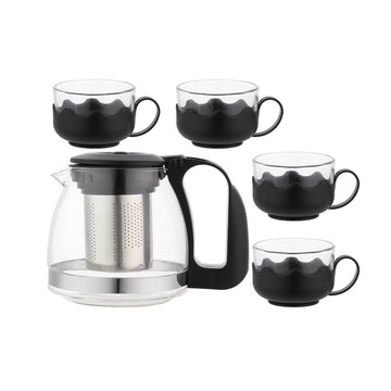 MINISO SIMPLE 4+1 TEA SET (BLACK) 0100040251 TEA SET