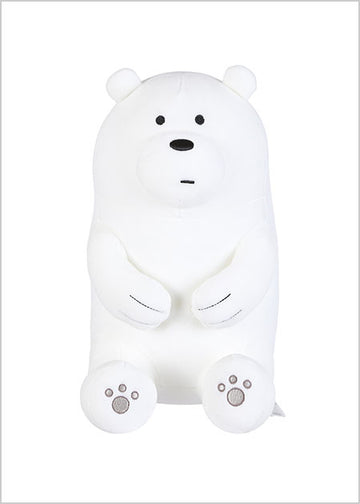 MINISO WE BARE BEARS-LOVELY SITTING PLUSH TOY (ICE BEAR) 0300021152 IP PLUSH