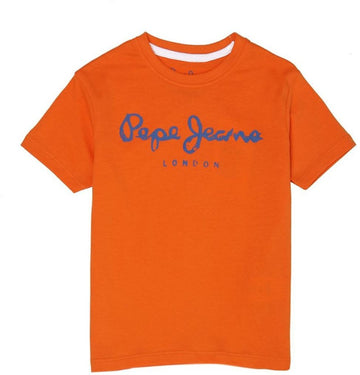 Pepe Jeans Eric Ss Ip PB502940 ORANGE T-Shirt Short Sleeve Young Boys