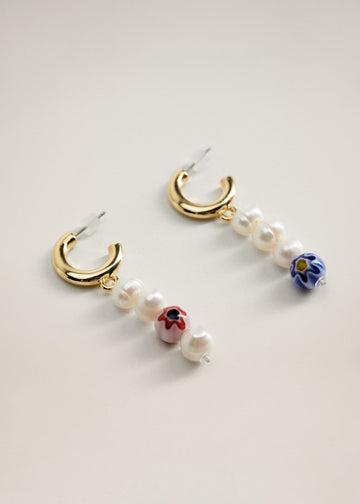 Mango Pearl Pendant Earrings 77012913-90