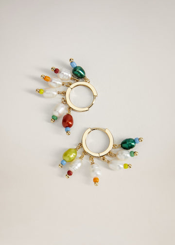 Mango Pearl Pendant Earrings 77012918-90